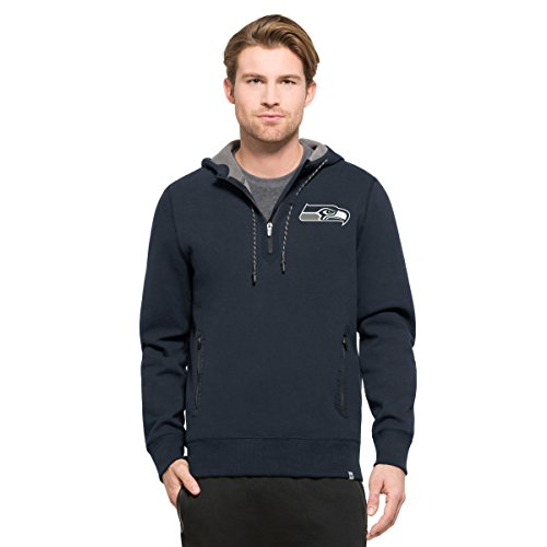 '47 NFL Seattle Seahawks Men's Compete Full-Zip Hood, Marine, (Blue Seattle Seahawks Jacket)