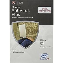 McAfee AntiVirus Plus 2015 - Protection estandar para 1 PC