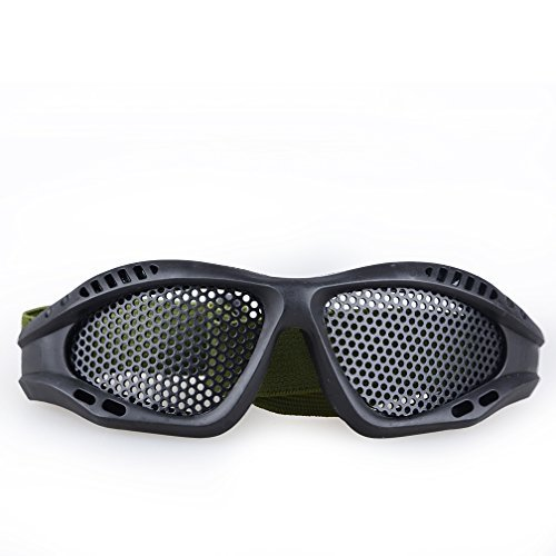 Toonol Tactical Shooting Airsoft Goggles Anti-fog Mesh Safety Goggles for Military Fans Color Tan
