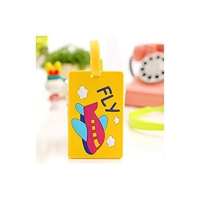 Sunnyshinee Sac de voyage en silicone de voyage Coque étiquette Sangles Flight Check Dépôt-vente Label (Jaune)