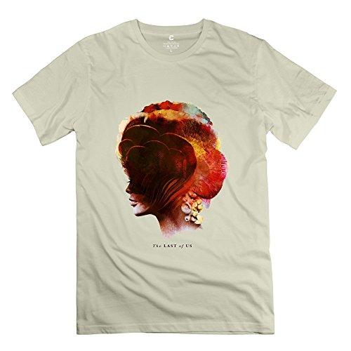 Men's The Last Of Us Game Screw Neck Tee Size XS Natural