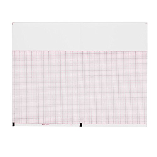 ECG EKG Paper Burdick 7979 Compatible 3 Channel Perforated Thermal Recording Sheets 10 Pack per ()