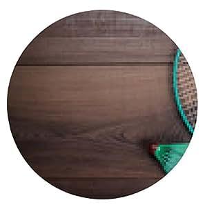 alfombrilla de ratón volantes y la raqueta de bádminton - ronda - 20cm
