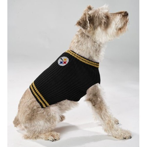 Pittsburgh Steelers V Neck Dog Pet Sweater NFL All Sizes (Small)
