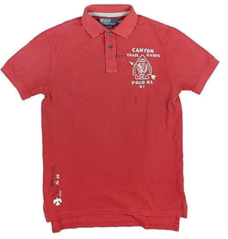 Polo Ralph Lauren Men's Custom-Fit Canyon Trail Guide Shirt (XXL, Red) - Canyon Guide