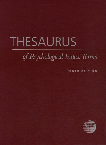 Thesaurus of Psychological Index Terms pdf epub
