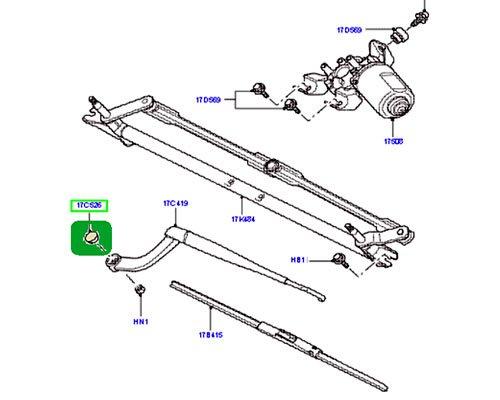Genuine LAND ROVER FRONT or REAR WIPER ARM NUT CAP COVER LR3 LR4 SPORT OEM DKG500011PMD