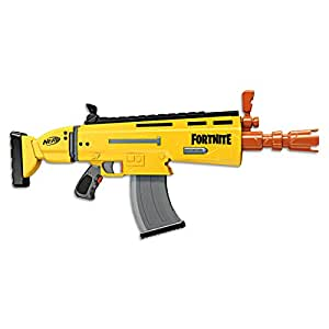 FORTNITE AR-L Scar - NERF Elite Blaster - Motorized Blaster, 20 Official NERF Fortnite Elite Darts, Flip Up Sights - Kids, Youth, Teens, Adults - Outdoor Toys & Games - Ages 8+