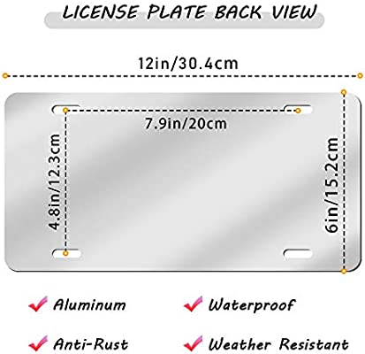 Hele Top Fans Metal License Plate Tag Covers Aluminum Plate with Reflective Film