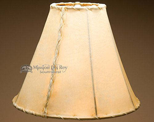 Rawhide Lamp Shades for Western Lamps (14'' bell) by Mission Del Rey