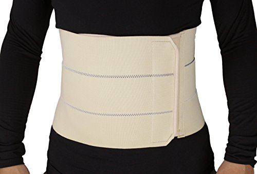 ObboMed MB-2310NXL 3- Panel Elastic Postpartum Girdle/Postoperative Abdominal Binder Belt, Injuries support, Post pregnancy, Post-Surgical, Hernia, Belly Wrap Brace–Trimming Waist (XL:43-47inches) -