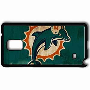 Personalized Samsung Note 4 Cell phone Case/Cover Skin 1408 miami dolphins Black