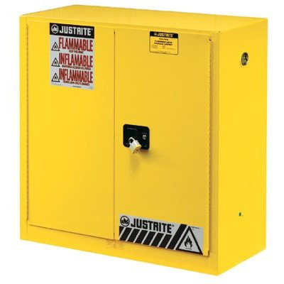 Flammable Cabinet With Self Close Double Door, 30 Gallon