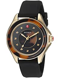 Women's 'Cape' Quartz Stainless Steel and Silicone Casual Watch, Color:Brown (Model: MWW27A000027)