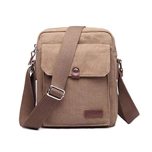 26 per Borsa Cm Large Bag Khaki Capacity Men Mate For Messenger 20 Canvas 10 Brown Casual studenti 4xTzWOq