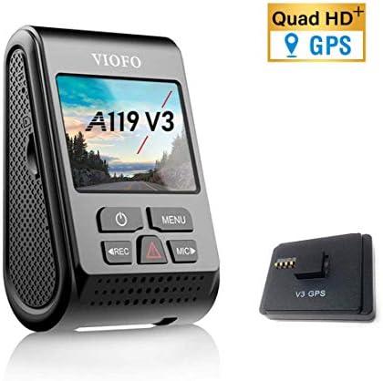 VIOFO A119 V3 2560 x 1600P Quad HD Dash Camera with GPS Logger 2020 Edition