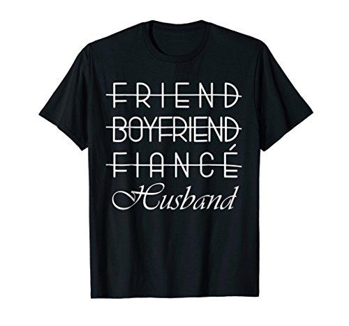 Friend, Boyfriend, Fiance, Husband T-Shirt Groom Wedding by Bride & Groom Wedding Party Tee