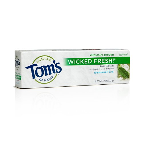 Du Maine Wicked frais fluorure Dentifrice Naturel, menthe glacée, 4,7 once Tom (pack de 2)