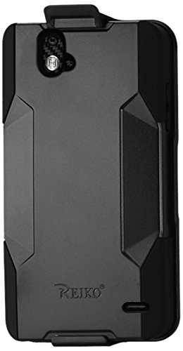 purchase cheap 6f61b 08b10 Reiko Primum Series Silicone Case + Protector Cover + Holster Zte Grand X  Max Z787 Drop Proof Full Protection with Built - Retail Packaging - Black