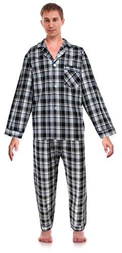 RK Classical Sleepwear Men's Broadcloth Woven Pajama Set, Size ()