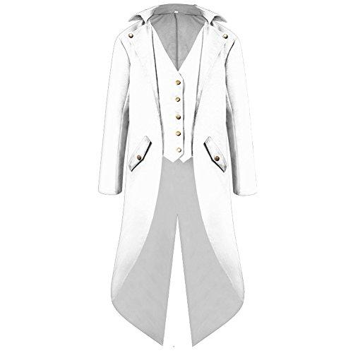 Victorian Suit - H&ZY Men's Steampunk Vintage Tailcoat Jacket Gothic Victorian Frock Coat Uniform Halloween Costume