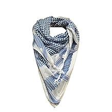 Mohavy Unisex Original Keffiyeh Shemagh Fashion Scarf (One Size, Blue Ocean)