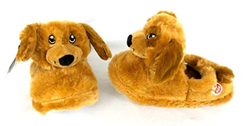 - Esquire Footwear Boys Girls Build A Bear Lab Puppy Dog Slippers (Large 1/2) Brown