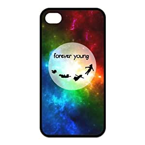 Forever Young Pattern Design Solid Rubber Customized Cover Case for iPhone 5s 5s-linda219