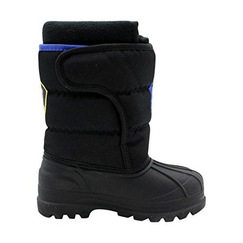 Polo Ralph Lauren Kids Hamilten II EZ Winter Fashion Boot (Toddler/Little Kid/Big Kid), Black/Black/Royal, 6 M US - Polo Lauren Ralph Friday Black