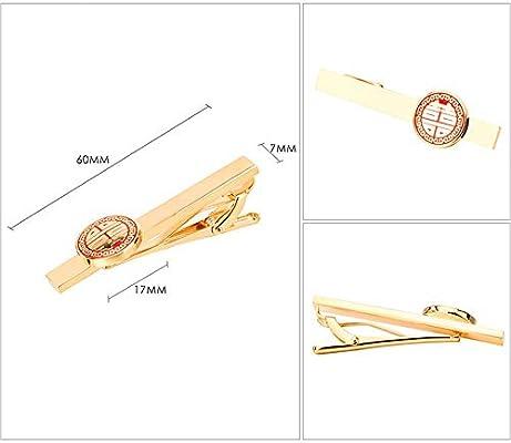 CCJIAC 6Cm Clips de Corbata de Amor Rojo para Corbata para Hombre ...