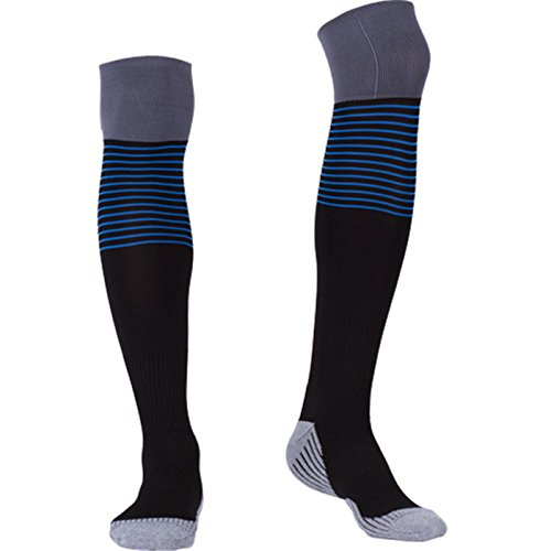 Compression Socks for Men Over Knee, BEST Graduated Athletic Fit for Running, Nurses, Flight Travel & Maternity Pregnancy. Boost Stamina, Circulation & Recovery (black, one size fit most)