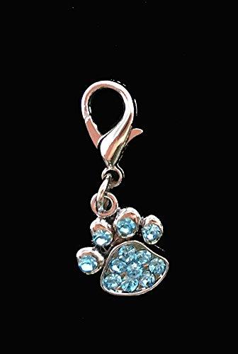 Wildforlife Rhinestone Bling Paw Pet Pendant Collar Charm (Blue)