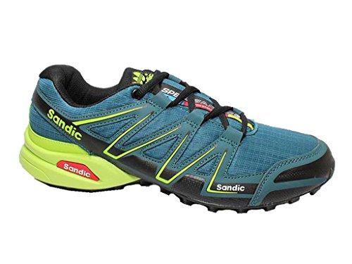 Chaussures De Sport Pour Hommes Sandic Baskets Sneakers Pantoufle Bleu Marine / Vert