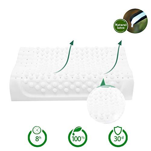Almohada 100% natural de látex fresca transpirable con soporte espuma cómoda almohada para la espalda, previene alergias...