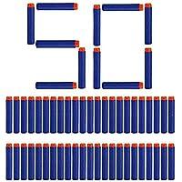 SYGA Plastic Foam Toy Bullet Dart Bullets for Nerf N-Strike Elite Guns, 50-Pieces, Blue