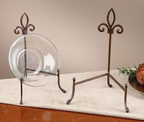 Large York Metal Stand for Books, Bowls, or Platters - Stained Glass Tray Art