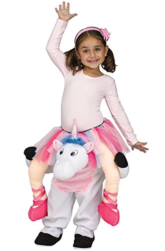 Fun World Girls' Toddler Carry Me Magical Unicorn Ballerina Costume, Multi Xtra-Large ()