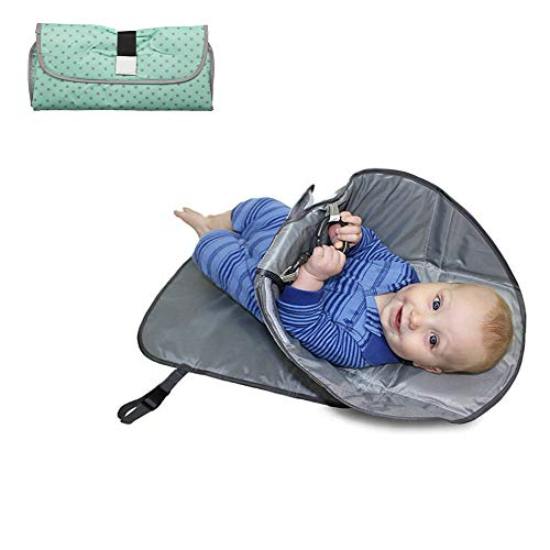 Muzoct Portable Baby Clean Hands Changing Pad, 3-in-1 Diaper Clutch, Changing Station, Diaper-Time Playmat with Redirection Barrier for Travel, Road Trips or Flights – Perfect for Toddlers, Infants