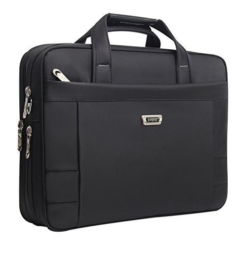 Laptop Briefcase, 15.6 inch Laptop Bags, Business Office Bag for Men Women,Stylish Nylon Multi-functional Organizer Messenger Bags for Men Women Fit for 15.6 inch Notebook Macbook Tablet - Black