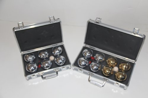 Combo 73mm Metal Bocce and Petanque 2 pack with Metal Cases by BuyBocceBalls