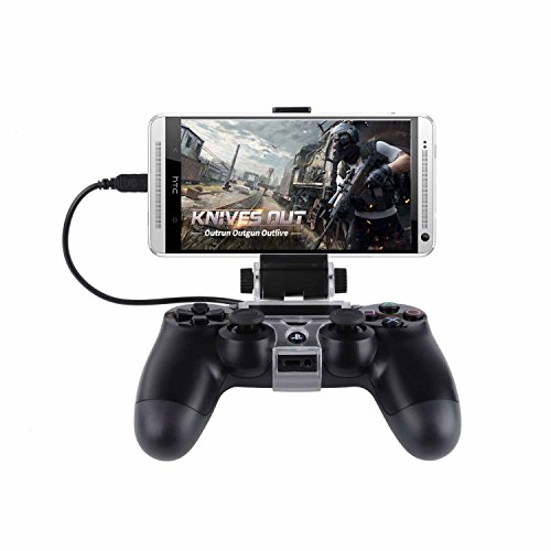 SUNKY PS4 Slim Pro Controller Android Phone Clip, 180 Degree Gaming Holder Mount Stand Bracket for Playstation 4 Slim Pro Dualshock Console - 6 inch Samsung Galaxy S8 Plus S7 S6 Edge Plus Note 8 5