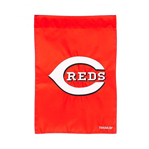 Ashley Gifts Customizable Embroidered Garden Size MLB Flag, Cincinnati Reds ()