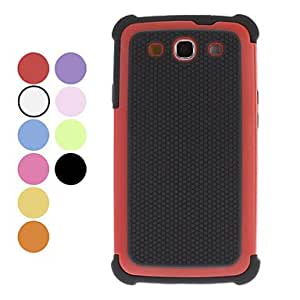 YXF Detachable Football Grain Design Hard Case for Samsung Galaxy S3 I9300 (Assorted Colors) , Rose