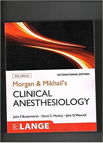MORGAN & MIKHAILS CLINICAL ANESTHESIOLOGY 6/E2018NOV