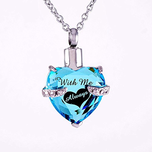 Infinity Keepsakes with Me Always Cremation Jewelry Urn Necklace for Ashes with Velvet Bag and Funnel Kit