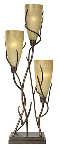 Table Uplight (Pacific Coast Lighting 82-8688-59 El Dorado Uplight Madera Rust 3-Light 25W Table Lamp)