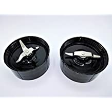 Replacement Cross & Flat Blades compatible with Magic Bullet Blender Mixer Juicer