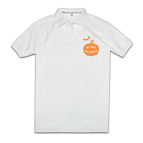 My First Halloween Men's Polo Style L White