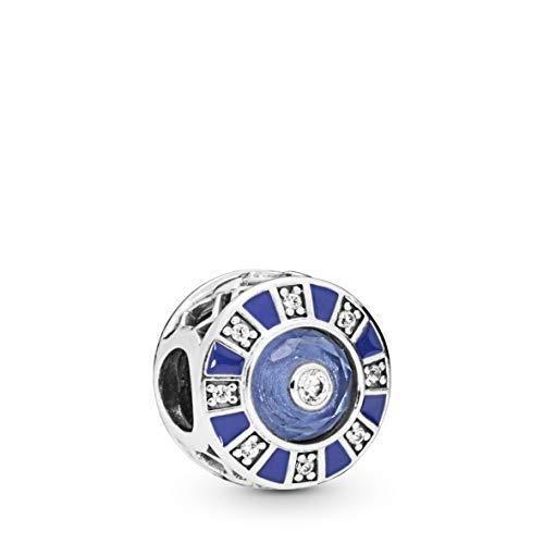PANDORA Blue Mosaic 925 Sterling Silver Charm - 798031EN195