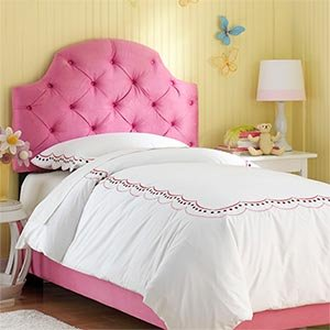hot pink tufted full bed upholstered headboard and frame